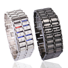 Men's Binary LED Digital Quartz Wrist Watch Father's Day Fashion Creative Gift L
