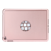 Ultra Thin Rose Gold Aluminum 7 Colors Backlight Flip Keyboard Bluetooth Keyboard Smart Folio Case For
