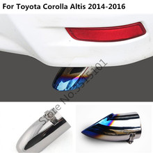 car cover muffler exterior end pipe dedicate stainless steel exhaust tip tail outlet For toyota Corolla