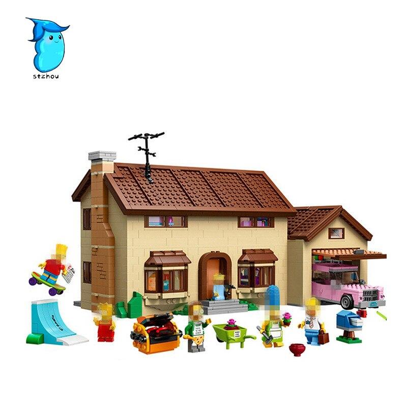 StZhou Compatible Legoe The Simpsons Series Lepin 16005 2575pcs The Simpsons House building blocks bricks toys for children конструктор lepin creators simpsons дом симпсонов 2575 дет 16005