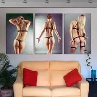 3 Stuk Moderne Figuur Decor Olieverf Gedrukt Sexy Naakt Vrouwen Schilderijen Body Art Canvas Prints Muur Displays Woondecoratie