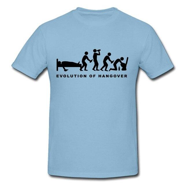 Design casual tee shirt mens evolution of hangover fun for High school t shirt design ideas