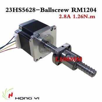 Envío gratis 4-plomo husillo de bolas sfu1204 L 100 MM Nema 23 23HS5628 Motor paso a paso 57 motor NEMA23 Motor paso a paso 2.8A para 3D impresora