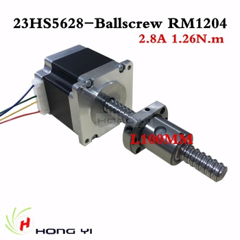 Envío gratuito 4-plomo husillo de bolas sfu1204 L 100mm Nema 23 23HS5628 Motor paso a paso 57 motor NEMA23 Motor paso a paso 2.8A para 3D impresora