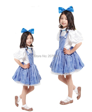 Girl Wizard of Oz Dorothy Book Week Fancy Dress Up Girls Costume