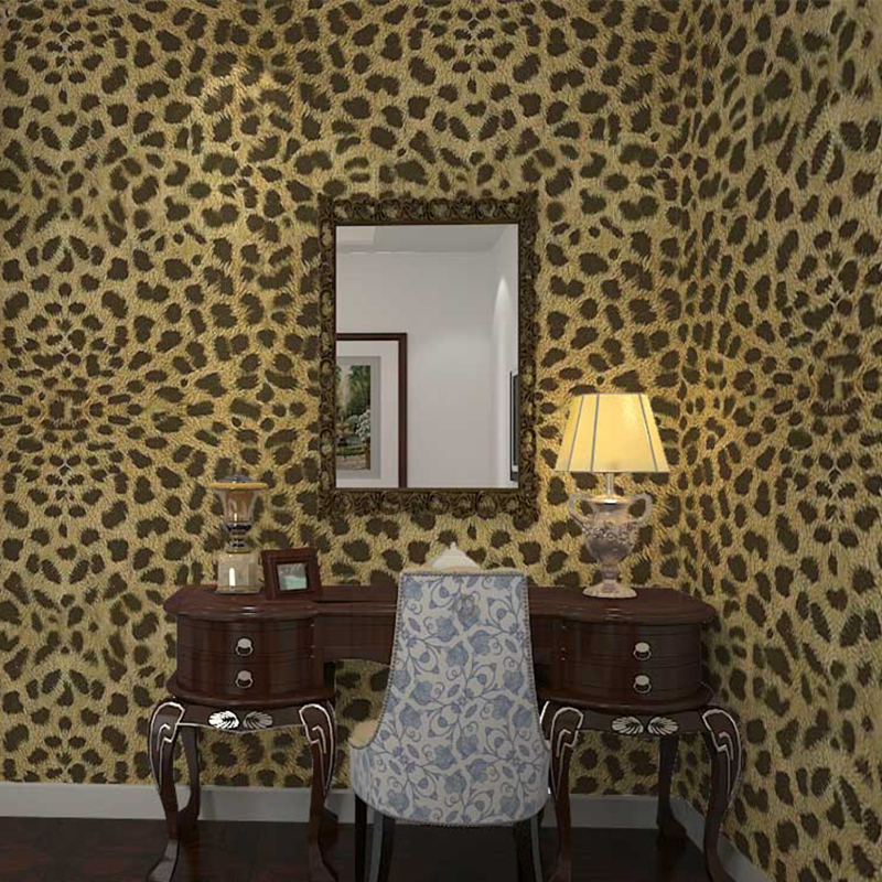 ФОТО beibehang 3d wealth striae three - dimensional animal Tiger Leopard wallpaper clothing store bedroom living room background
