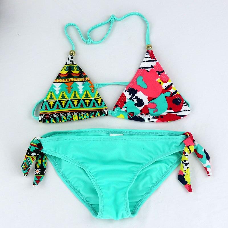 2019 New Children Swimwear Baby Kids Cute Bikini Girls Split Two Pieces Swimsuit Bathing Suit Beachwear Kids Biquini Infantil