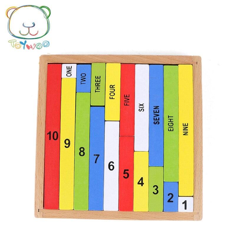 Baby Speelgoed Montessori Numerieke Rod Staven Math Vroegschoolse - Leren en onderwijs