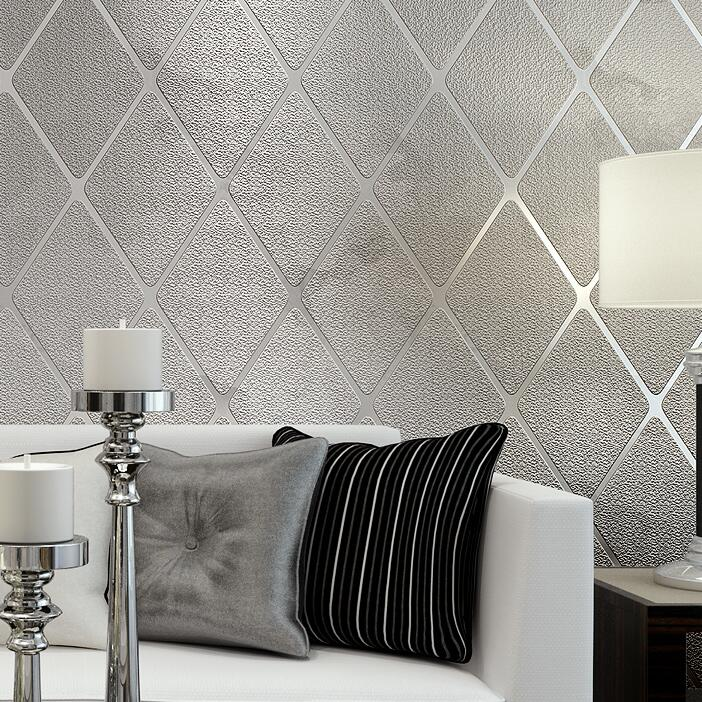 Gray Modern 3D Luxury Mosaic Lattice Background Wallpaper 3D thick wallpaper Living room sofa background TV wall wallpaper