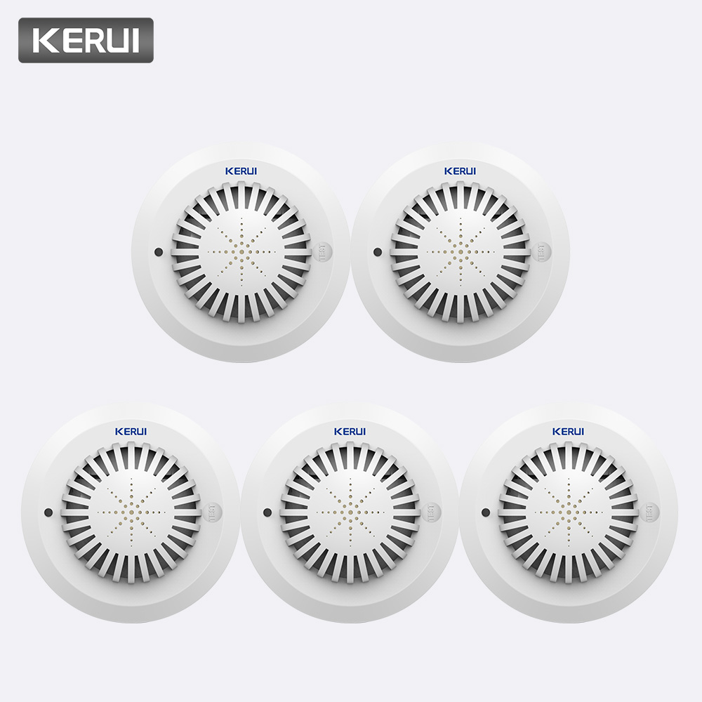 KERUI 5pcs High Sensitivity 433MHz SD03 Voice Prompts Fire Smoke Alarm Fire Security Smoke Detector Applied