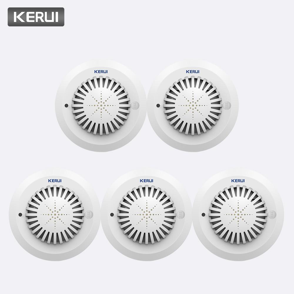 KERUI 5pcs High Sensitivity 433MHz SD03 Voice Prompts Fire Smoke Alarm Fire Security Smoke Detector Applied