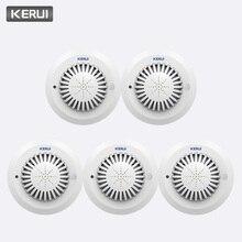 KERUI Высокочувствительный детектор дыма, 5 шт., 433 МГц, SD03 голосовые подсказки, противопожарная сигнализация, для дома, отеля, магазина