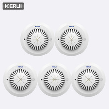 KERUI 5pcs גבוהה רגישות 433MHz SD03 הנחיות קוליות אש גלאי עשן אש אבטחת עשן גלאי מיושם כדי בית מלון חנות