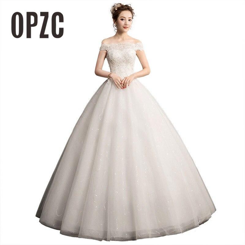 Simple Wedding Dresses Boat Neck: Fashion Simple Muslin Wedding Dress 2018 Vestido De Noiva