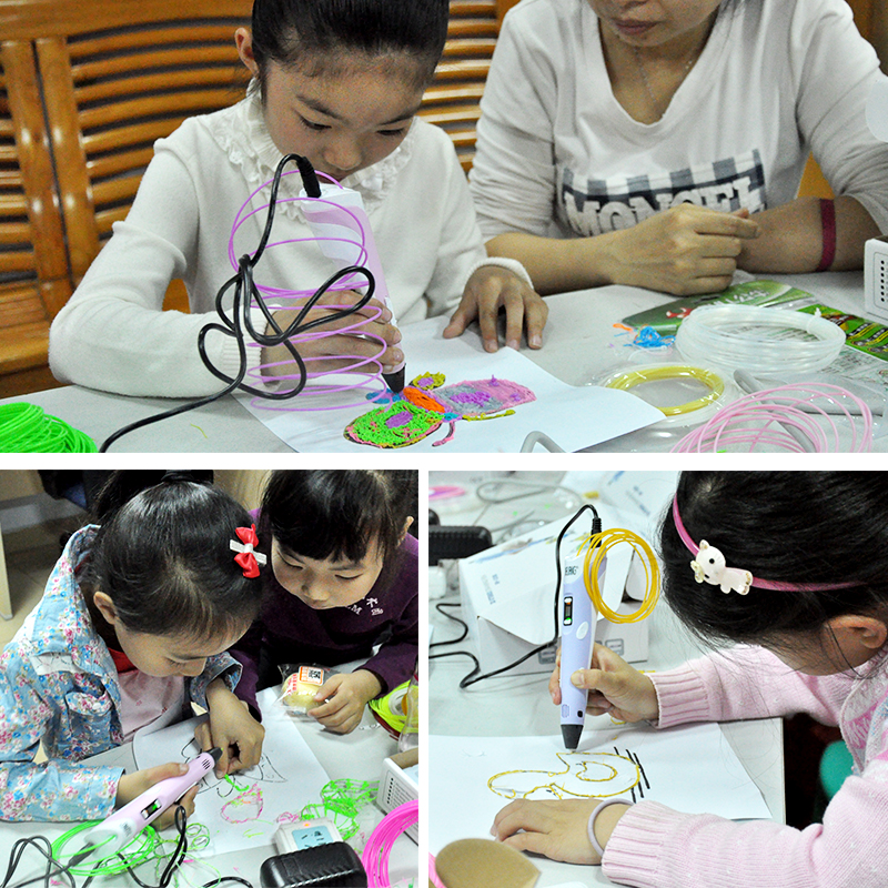 High Quality 3D Printer Pen Drawing Magic Arts For Kids 3D Printing Pen 100 Meters 20 Colors ABS Filament 3D Pens in 3D Pens from Computer Office