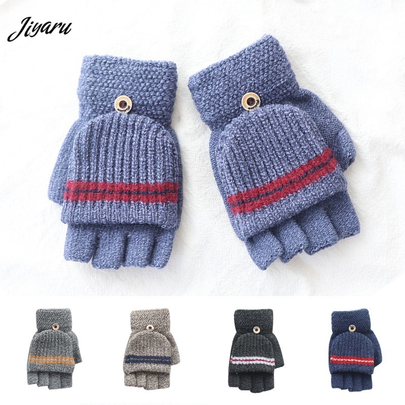 Accessories Mother & Kids Humorous Baby Boys Girls Gloves Winter Full Finger Kids Mittens Warm Gloves Children Knitting Solid Button Mittens 2-5y High Quality