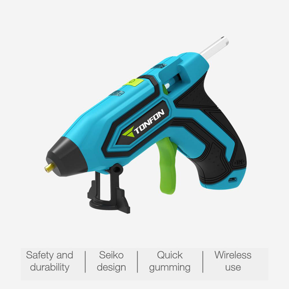 3.6V Lithium-ion Hot Melt Glue Gun With 5pcs Sticks Wireless Graft Repair Heat Gun Pneumatic Home DIY Tools Hot Glue Gun