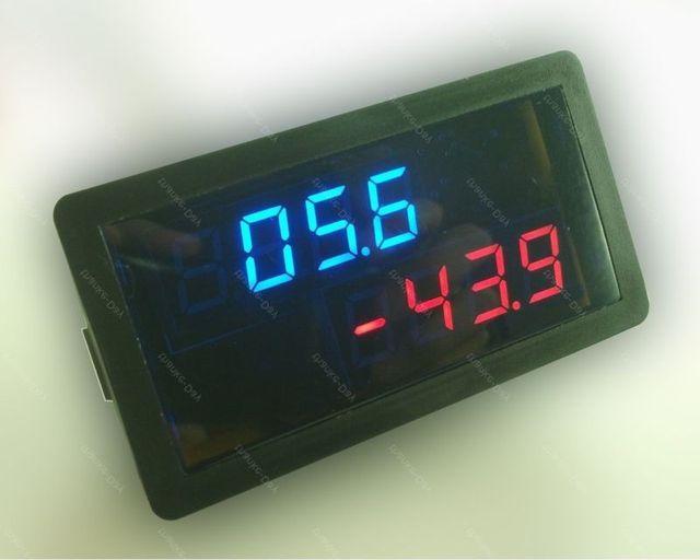 DC 20V +/-500A voltímetro Digital amperímetro voltímetro cargador descarga panel solar Monitor de batería 12V 24V Coche