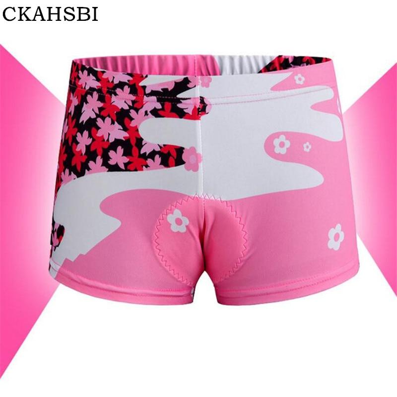 CKAHSBI 2019 Bike MTB Road Female Cycling Short Clothing Cherry Blossom Women Cycling Shorts Underwear 3D Gel Pad Bicycle Briefs