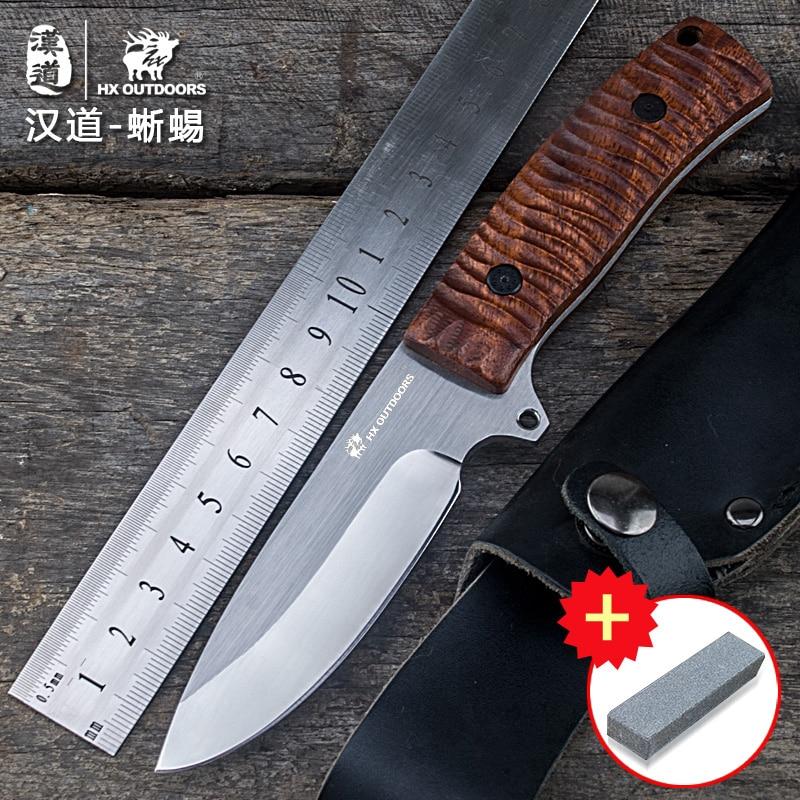 HX OUTDOORS gyík taktikai mező túlélési hadsereg kés egyenes kés önálló hordozható eszköz SURVIVAL kés kültéri kés