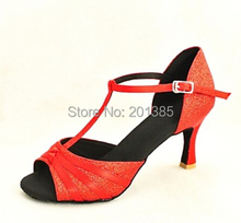 Wholesale Ladies Girls  Red Glitter  Ballroom Latin Samba Salsa Ceroc Tango Dance Shoes All Size