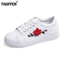 Taoffen/женские туфли на плоской подошве розового обувь на плоской подошве Круглый носок слипоны с перекрестными ремешками для отдыха для студентов мягкая обувь размеры 36–40