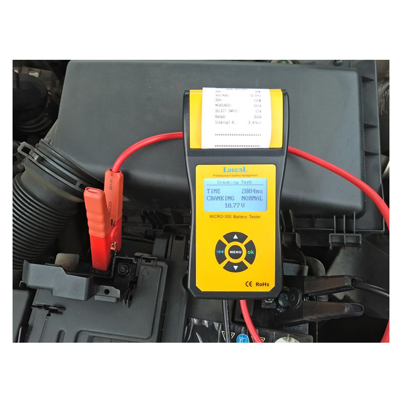 LANCOL MICRO-300Digital Auto Batterie Last Tester mit Drucker 2000CCA 200ah 12 v Auto Diagnose Werkzeug Batterie Kapazität Checker