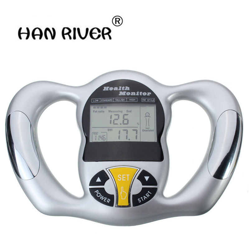 New Arrival Mini Digital LCD Portable Digital Handheld Body Mass Index BMI Meter Health Fat Analyzer Monitor bodecoder digital fitness express bia body fat monitor fat analyzer body health white home using analysis report