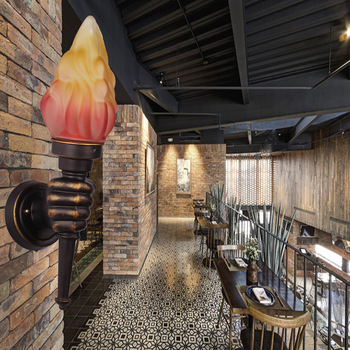 Na zewnątrz wodoodporne ściany lampy europejskiej balkon przejściach i korytarzach latarka lampa Retro Cafe Restaurant Bar kreatywność