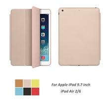 Case Auto Sleep / Wake Up Slim Cowl For ipad Air2 Air6 Sensible Stand Holder Folio Shield Case For Apple ipad Air 2/6 9.7 inch