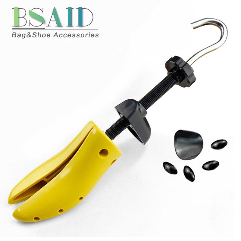 BSAID 1 Piece Unisex Adjustable Plastic Shoe Stretcher Shoe Expander Men Women Shoe Tree High Heel Metal Handle Shoe Rack Holder