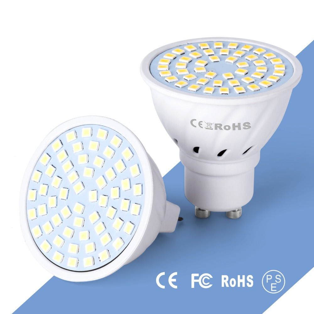 E27 LED Spotlight 220V E14 Bulb GU10 Bombilla MR16 LED Lamp GU 10 Spot Led Ampul 4W 6W 8W Light Bulb GU5.3 Lampada 48 60 80LEDs