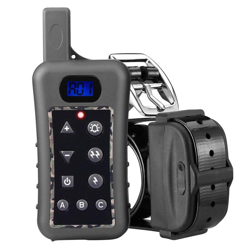 Tréninkový obojek pro psy Elektrický šok + Světlo + Zvukový příkaz Dálkové ovládání 400M Výcvikový přístroj pro psy Pet pes Trainer obojek