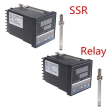 Superb 220V Temperature Controller REX-C700 K type Input Relay SSR Output Thermostat цена 2017
