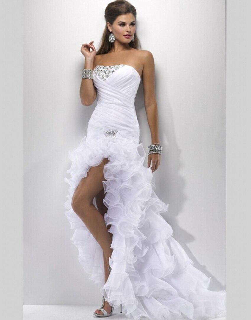 sexy white wedding gowns elegant wedding dresses short front long back vestidos de novia 2015 new robe de mariage weddingdress