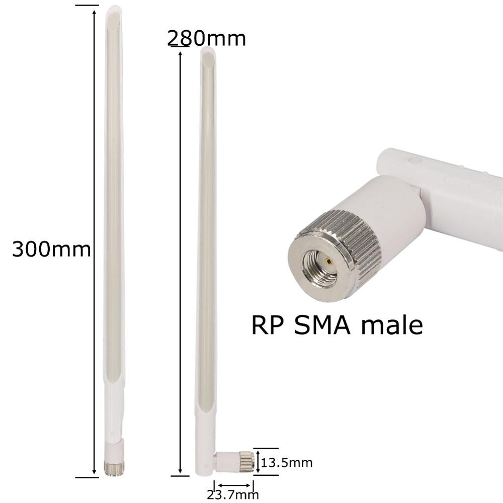 2.4Ghz 10 Dbi Aerial SMA Male Wireless WIFI Antenna Booster Universal Antennas Amplifier WLAN Router Connector