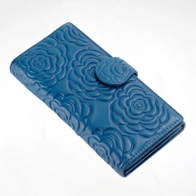 Floral Pattern Ladies Leather Coin Purse Clutch Wallet Female Famous Brand Card Holder Cellphone Pocket ladies cash bag