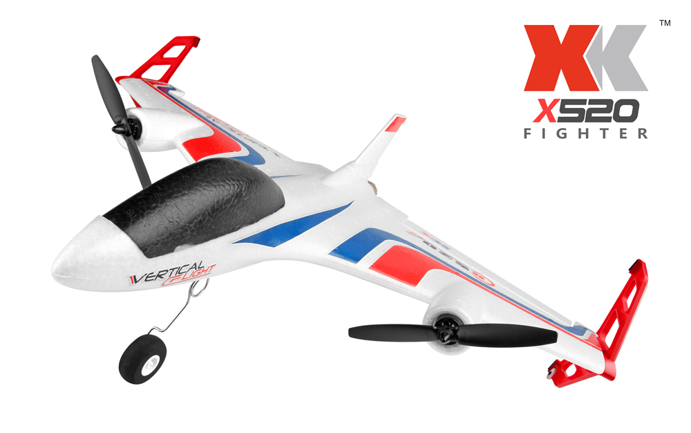 2018 New wltoys XK X520 RC Airplane 6CH 3D/6G Takeoff and Landing Stunt RC Drone XK Quadrocopter Remote Control Airplane image