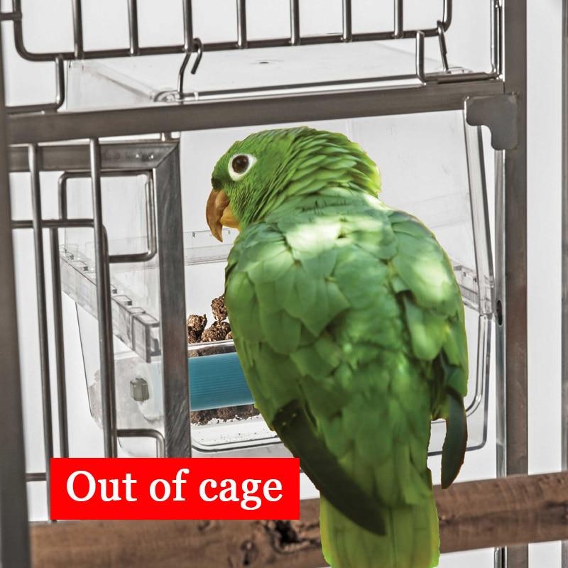 Boîte d'alimentation résistante aux déversements de perroquet CAITEC résistant aux morsures Durable adapté aux oiseaux de taille moyenne à grande sans Solution d'alimentation de déchets - 4