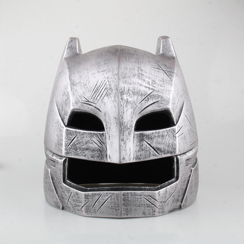 ФОТО Batman Helmet Action Figure Batman v Superman Dawn of Justice Battle Helmet 1:1 Cosplay Model Toys Anime Movie Bat Man