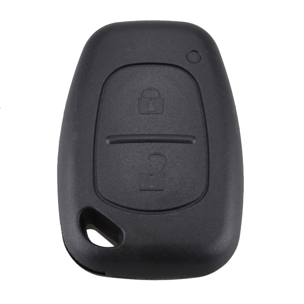 2 Buttons Remote Car Key Refit Cover Case Shell For Renault Traffic Master Vivaro Movano Kangoo Without Blade Key Case Shell