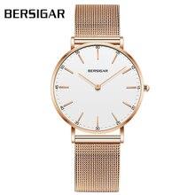 Reloj Mujer BERSIGAR Брендовые женские часы из розового золота ультратонкие женские часы модные водонепроницаемые часы кварцевые часы Bayan Saat