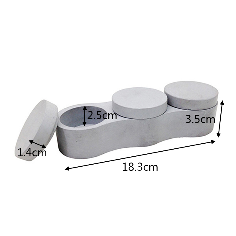moldes de caixa de silicone com molde de tampa 3 + 1 caixas