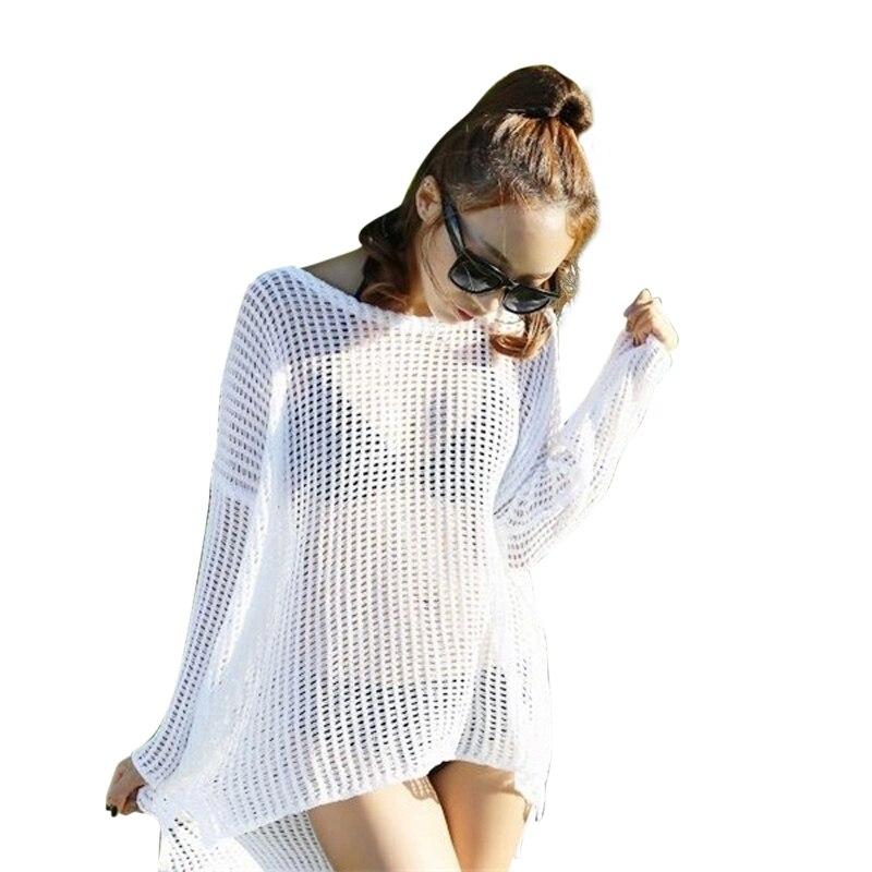 ٩(^‿^)۶Pareo nueva beachwear cover up blanco 2017 Hot sales sexy ...