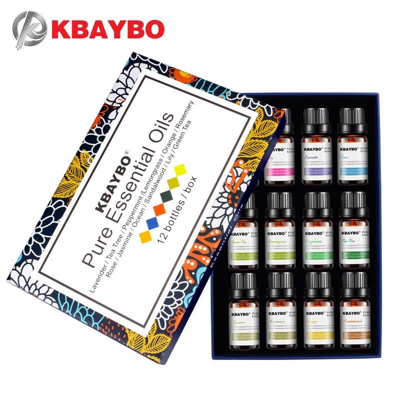 Óleo essencial para o Óleo de Aromaterapia Difusor Umidificador 12 Fragrância Tipos de Alecrim, Lavanda, Capim Limão, Laranja, mar, Jasmim
