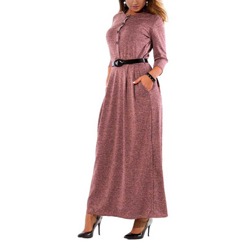 2018 Spring Sexy Long Knitted Dresses Women Loose Bandage Dress Winter Plus Size O Neck Half-sleeved Dress Casual embroidered casual loose knitted dress flower long sleeved dress o neck line plain dresses fall casual dresses