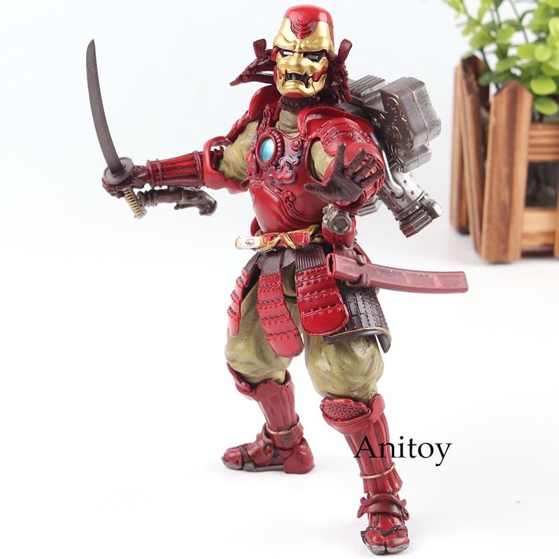 MANGA REALIZATION Marvel Action Figures Samurai Kou Tetsu-samurai Ironman Iron Man Mk-3 PVC Samurai Doll Model Toy 17.5cm