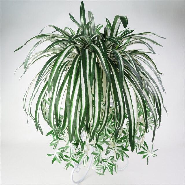 5 декоративные цветы Bracketplant хлорофитум орхидеи пластиковые ротанга стены цветок Шелковый Искусственный цветок растение, украшение для дома