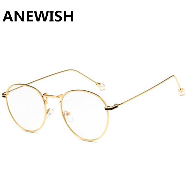 6efb3b869f Anewish Retro Eyeglasses Frame Women Men Optical Brand Design Net Glasses  Myopia Computer Glasses