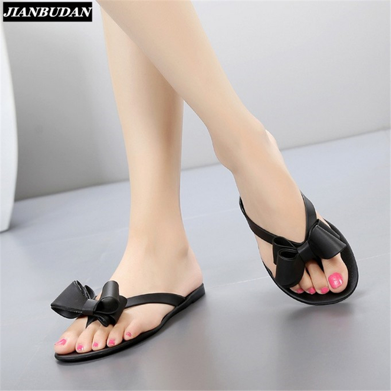 2017 summer new toe bow flat with cool slippers, women's beach shoes, women flip flops Jelly shoes акустика для фонового озвучивания tannoy dvs 8 wh